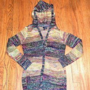 Ultra Flirt Multi Colored Hoodie Sweater